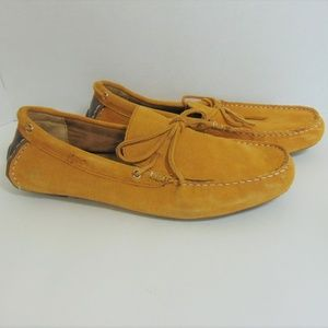 Alfani Gold Driving Moccasins Leather Slip On Shoe